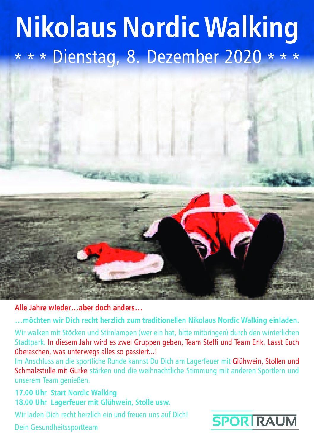 Nikolaus Nordic Walking am 8. Dezember ab 17 Uhr
