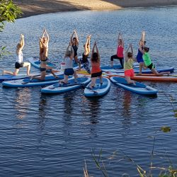 SUP Yoga Termine: 12. Juni, 27. Juni und 01. August jeweils von 11-13 Uhr